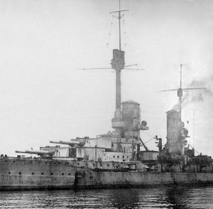 El acorazado Kronprinz Wilhelm en Scapa Flow