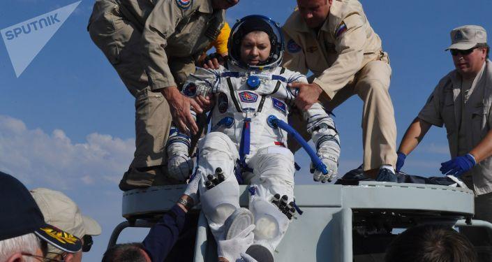 El cosmonauta del Rosсosmos Oleg Kononenko vuelve de la EEI
