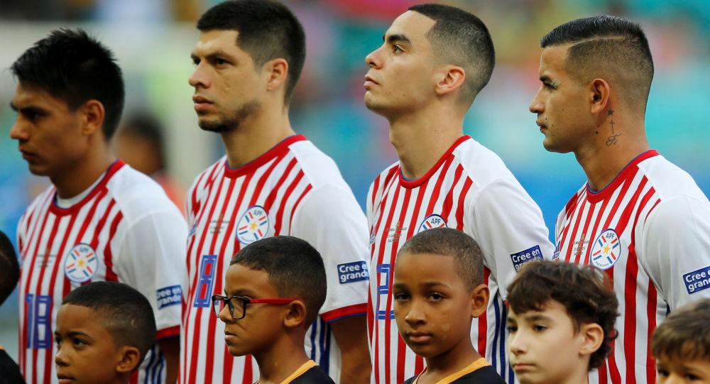 Una parte de la selección de Paraguay en la Copa América 2019 en Brasil
