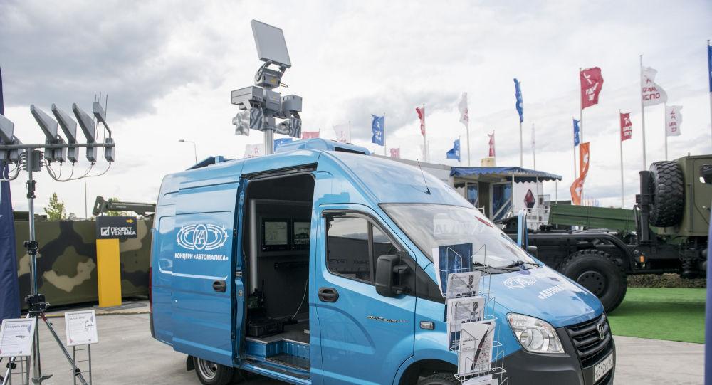 Sistema móvil Sapsan-Bekas para la detección y desactivación de vehículos aéreos no tripulados