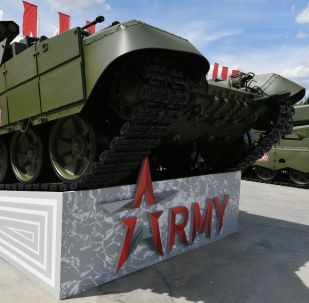 Un tanque ruso en el foro internacional Army 2019