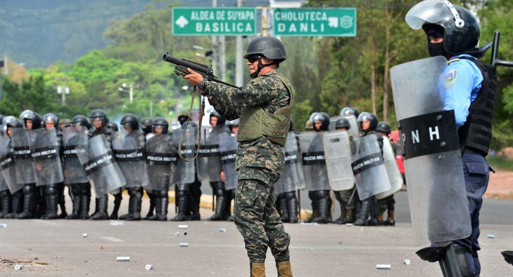 Militares en la Universidad Nacional Autónoma de Honduras