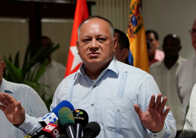 El presidente de la Asamblea Nacional Constituyente de Venezuela, Diosdado Cabello.