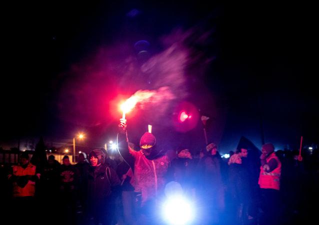 Huelga de mineros en Chuquicamata, Chile