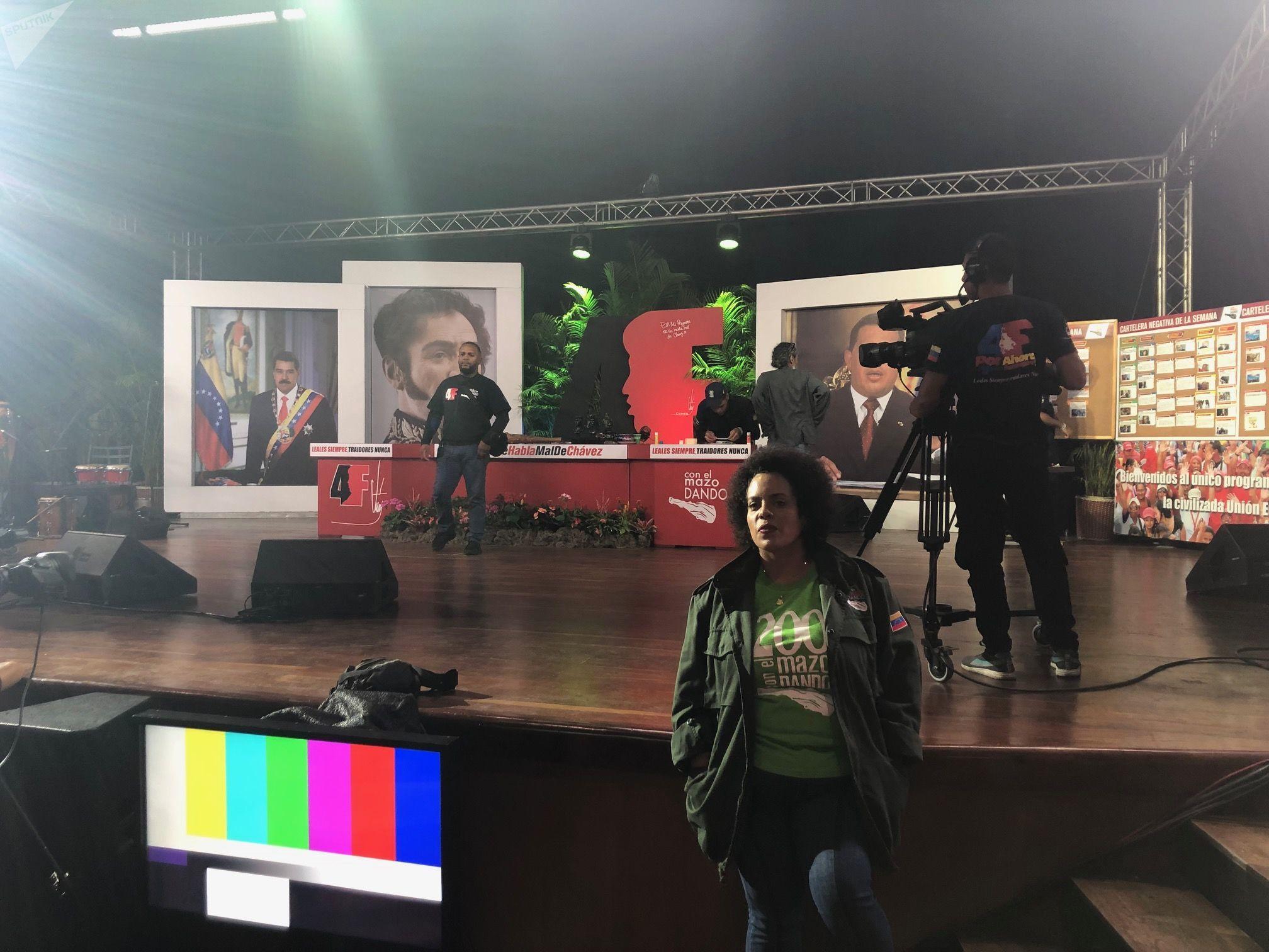 El estudio de 'Con el mazo dando', el programa de Diosdado Cabello en Venezolana de Televisión