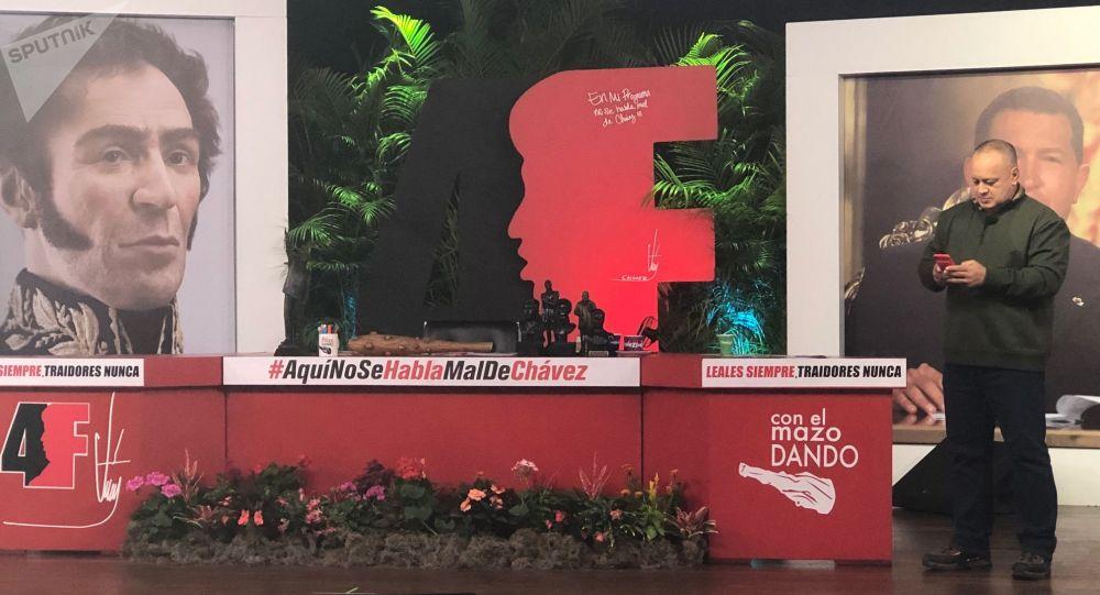 Diosdado Cabello hace despliegue de todo su carisma en su emisión televisiva, 'Con el mazo dando'