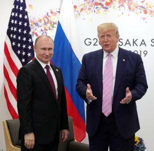 El presidente de Rusia, Vladímir Putin y el presidente de EEUU, Donald Trump en la cumbre del G20, Japón