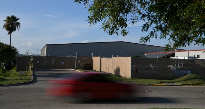El centro de procesamiento central de la ciudad de McAllen, Texas
