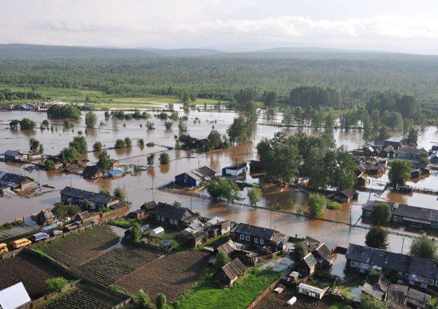 Inundaciones en la región de Irkutsk, Siberia