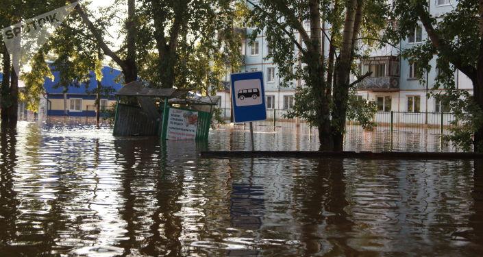 Inundaciones en la región rusa de Irkutsk