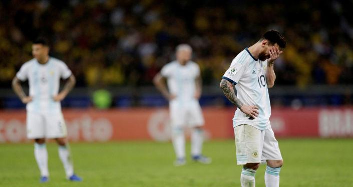 Leo Messi, futbolista argentino, tras la derrota contra Brasil