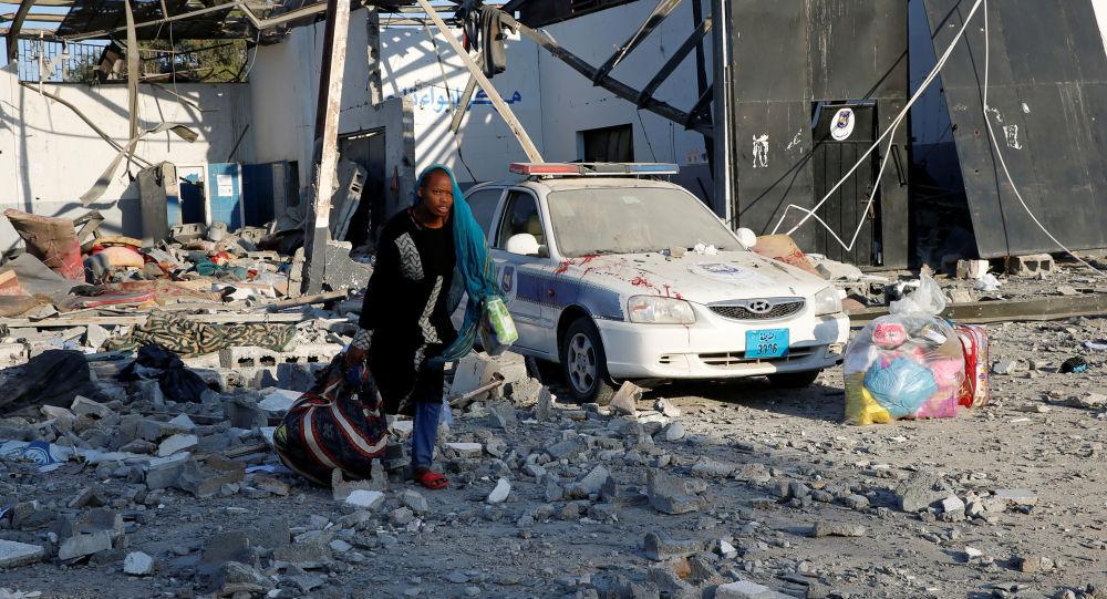 Ataque aéreo a un centro de detención de migrantes en la ciudad libia de Tajura