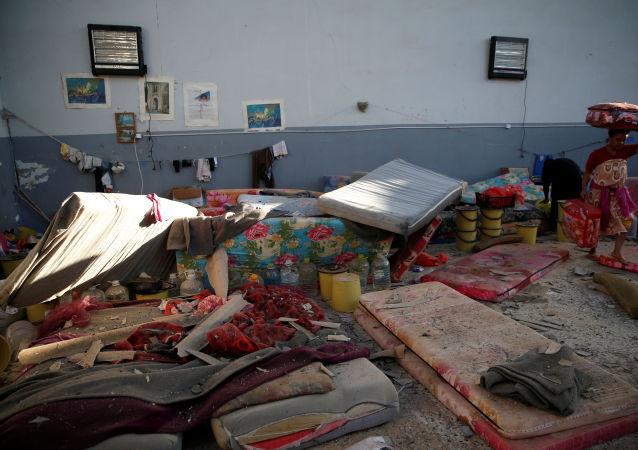 El centro de migrantes atacado en Tajura, Libia