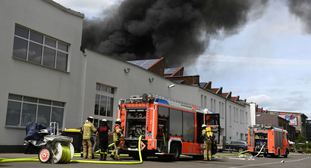 Incendio en el mercado Don Xuang Center en Berlín