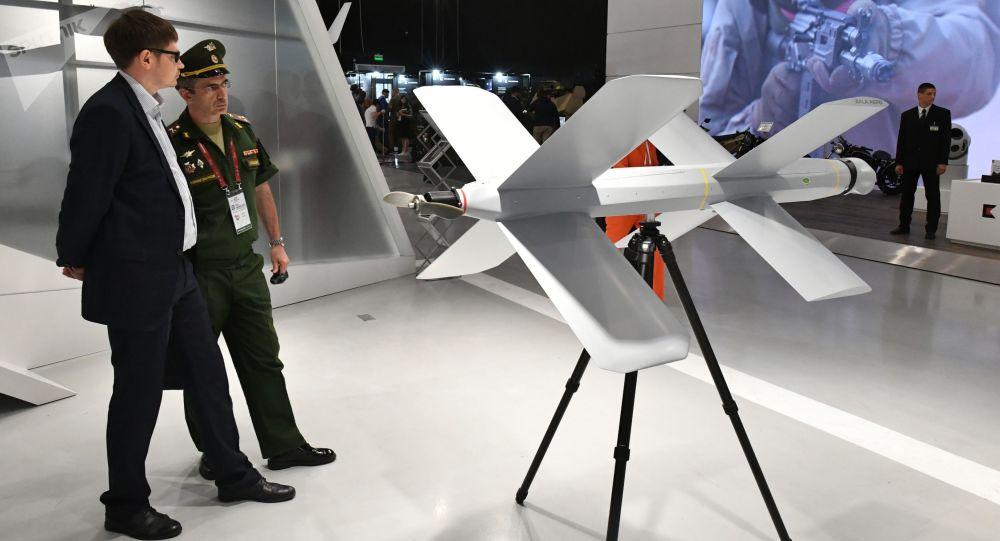 El dron kamikaze ZALA Lancet en el foro Army 2019