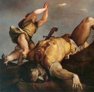 David y el gigante Goliat