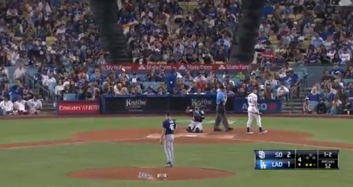Los Angeles Dodgers siguen el partido en pleno terremoto