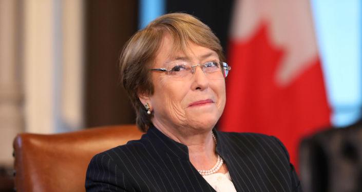 Michelle Bachelet, la Alta Comisionada de las Naciones Unidas para los Derechos Humanos