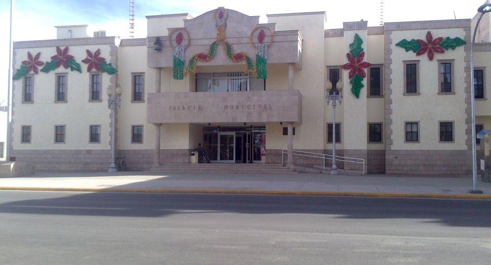 Edificio de la Presidencia Municipal de Cuauhtémoc (Chihuahua) en México