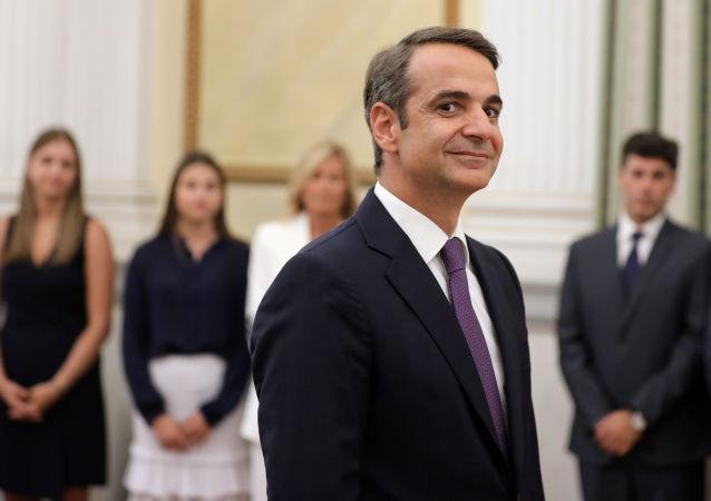 Kyriakos Mitsotakis, líder del partido griego Nueva Democracia