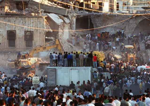 Ataque en Palestina (archivo)