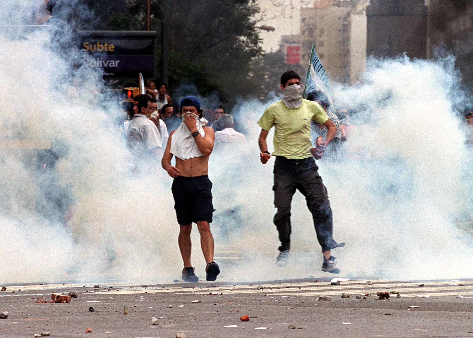 Protestas en Argentina en diciembre de 2001