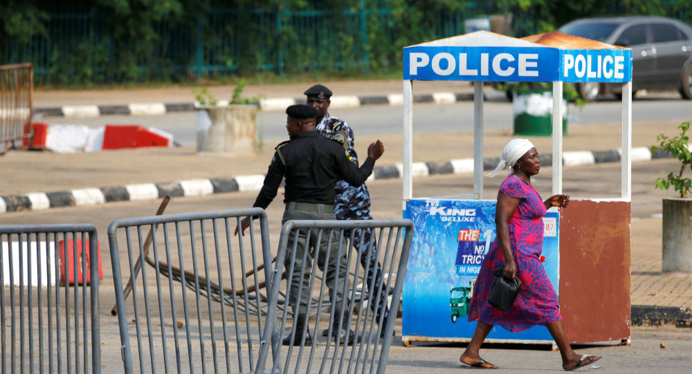 Situación cerca del Parlamento de Nigeria
