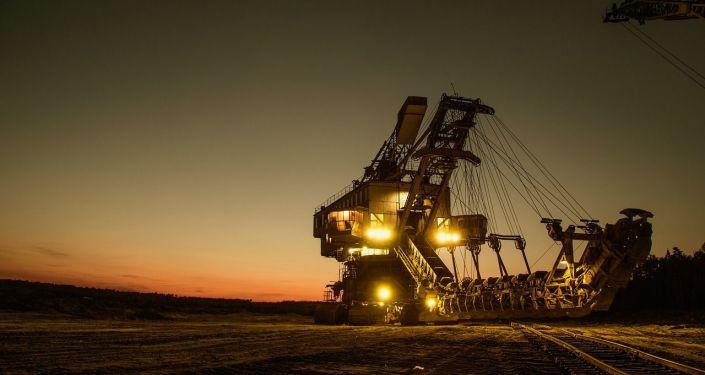 Una excavadora de minería. Imagen referencial