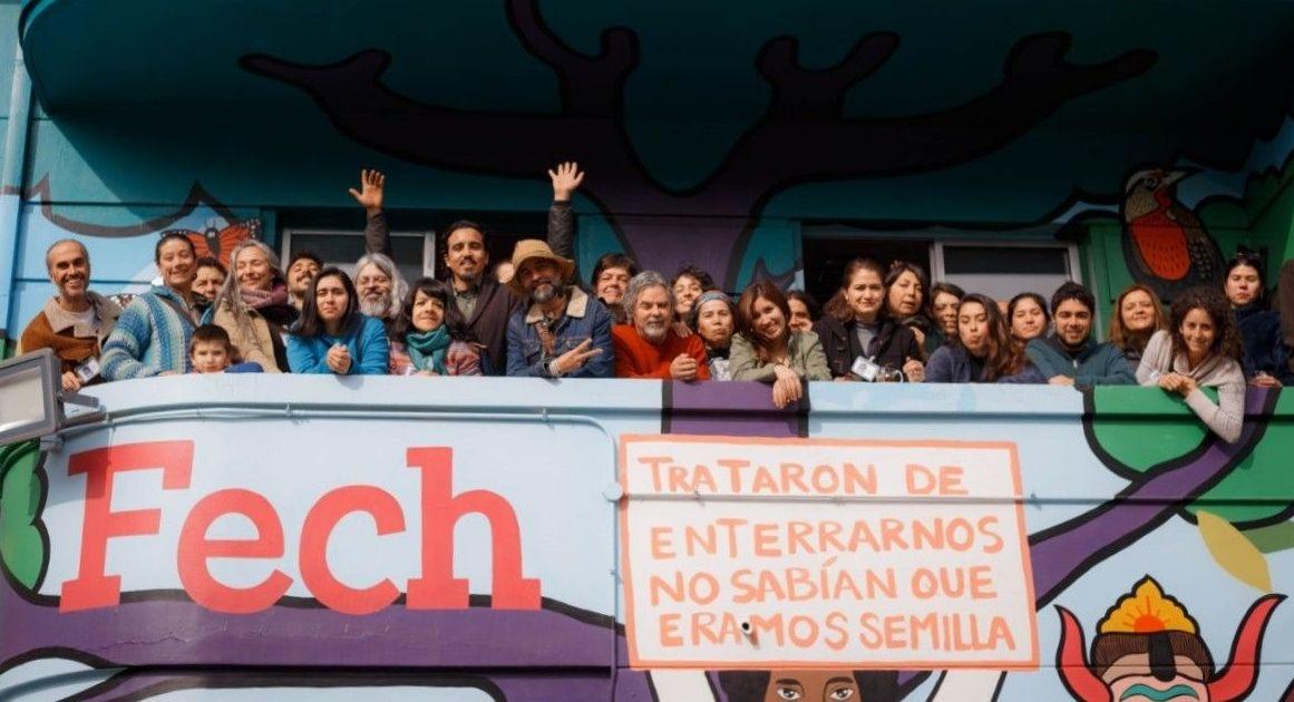 Representantes de las organizaciones pertenecientes a la Cumbre de los Pueblos 2019