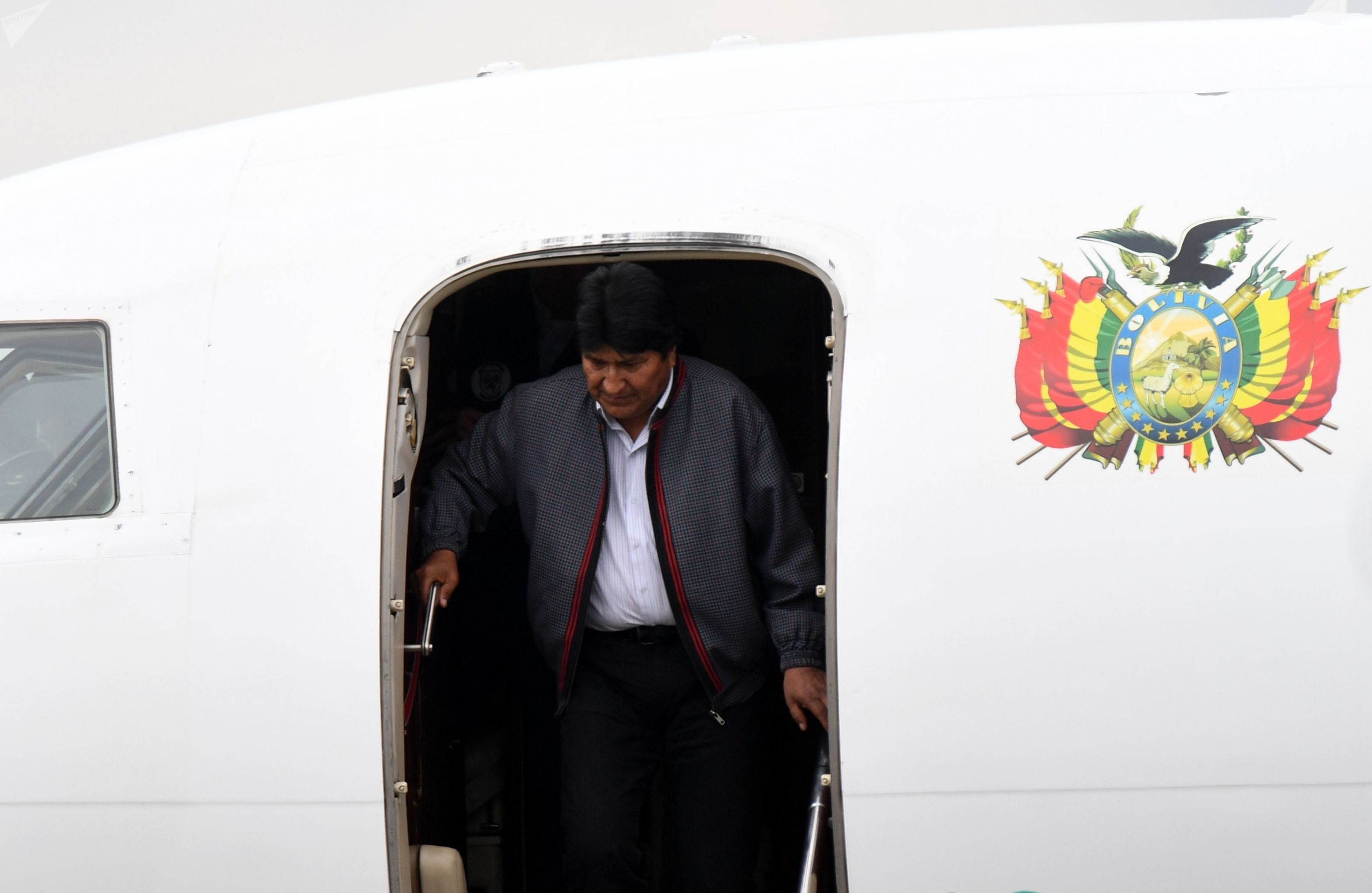 El presidente de Bolivia, Evo Morales, llega a Moscú