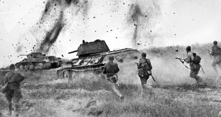 Ataque de los soviéticos cerca de Prójorovka