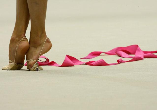 La cinta de una gimnasta (imagen referencial)