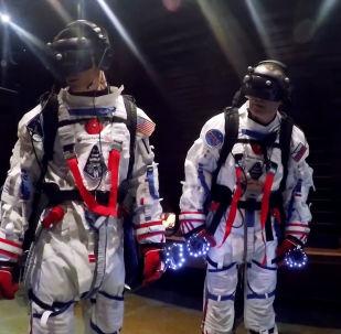 Los cosmonautas ruso y estadounidense (archivo)