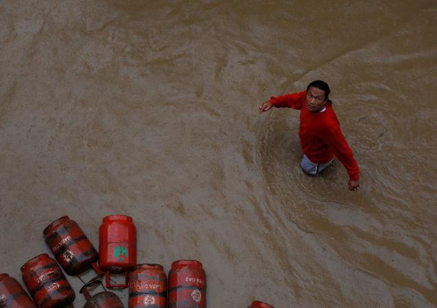 Inundaciones en Nepal