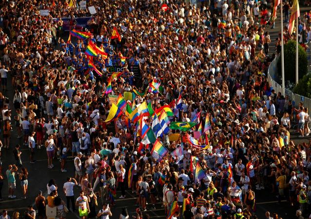 La celebración de la semana del Orgullo LGTB en Madrid