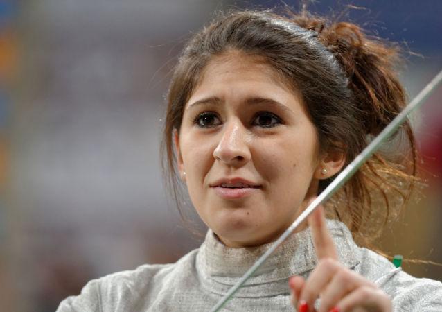 La esgrimista mexicana Paola Pliego