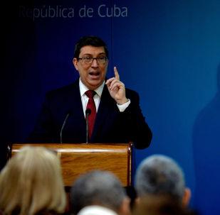 Bruno Rodríguez Parrilla , canciller de Cuba