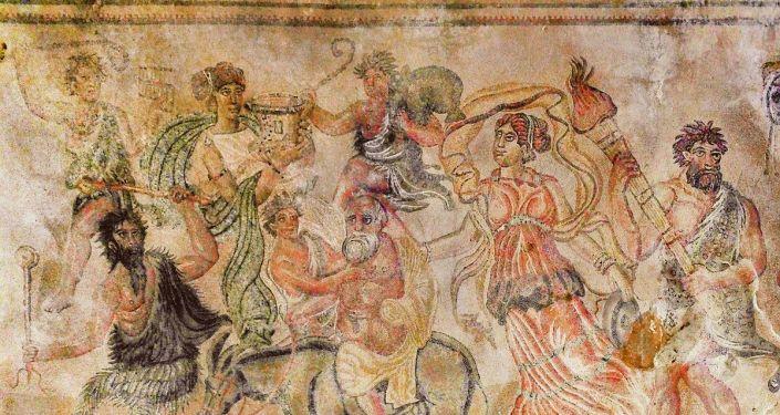 Fragmento del mosaico romano de Noheda (España)