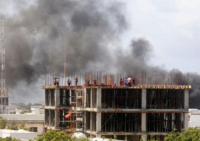 Una explosión en la capital somalí, Mogadiscio