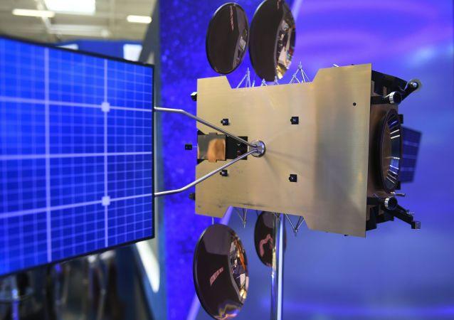 Modelo del satélite de comunicaciones Yamal (imagen referencial)