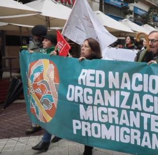 Los chilenos protestan en Santiago por el fracaso de la política migratoria
