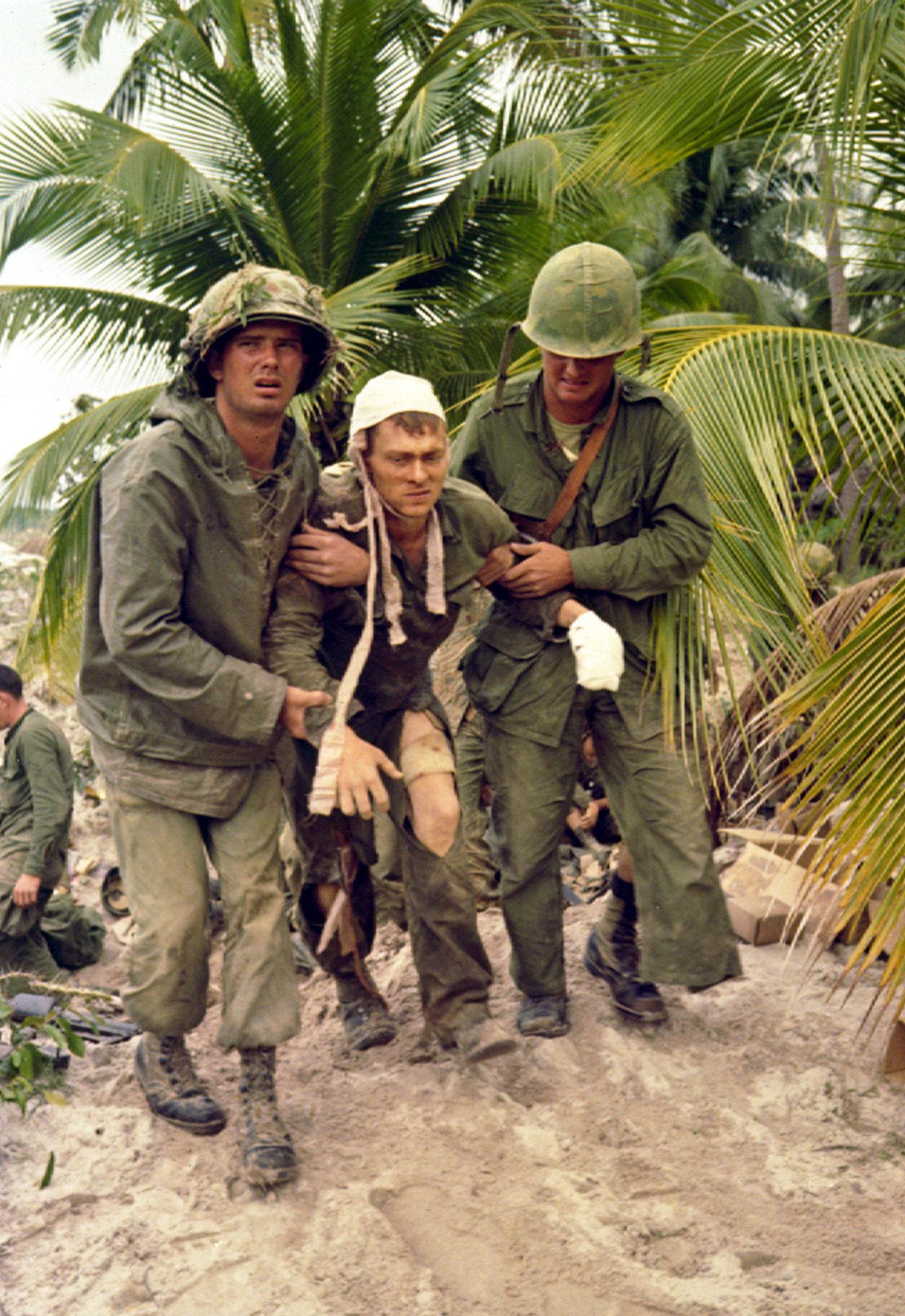 Soldados estadounidenses en Vietnam
