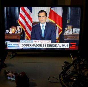 La renuncia del gobernador puertorriqueño Ricardo Rosselló