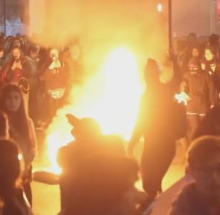 Una marcha de mujeres en Chile termina en violencia