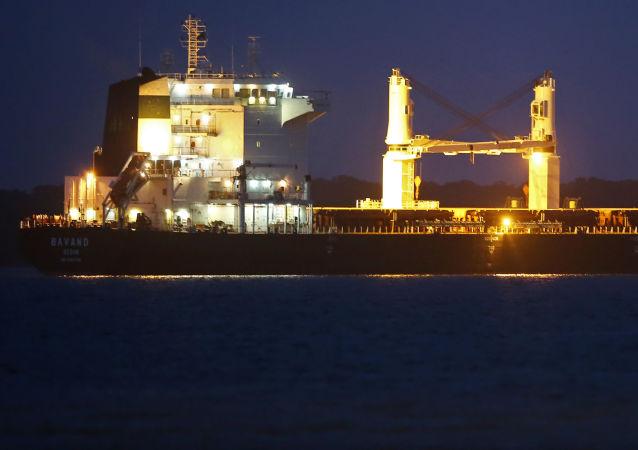 El barco iraní Bavand fondea en aguas brasileñas