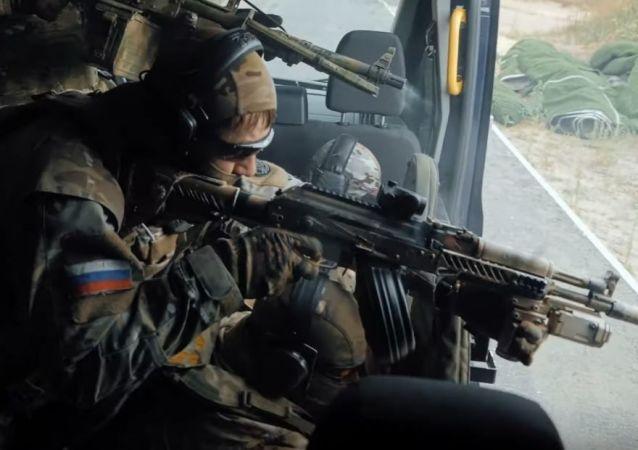 Entrenamiento de los agentes del FSB
