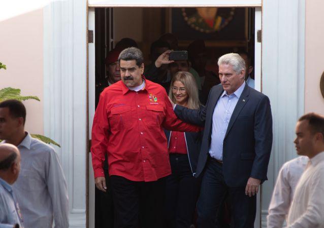 Nicolás Maduro, presidente de Venezuela, y Miguel Díaz-Canel, presidente de Cuba