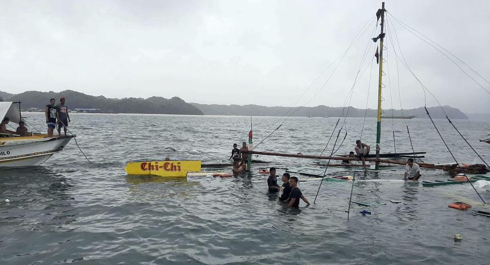 Naufragio de tres barcos en Filipinas