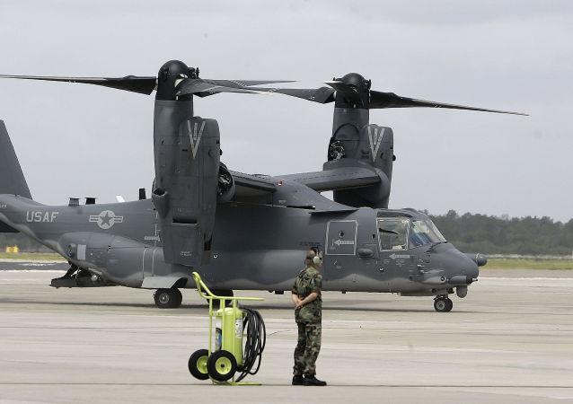 Un CV-22 Osprey en la Base Aérea MacDill