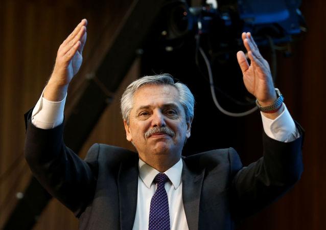 Alberto Fernández, candidato a la presidencia de Argentina por el Frente de Todos